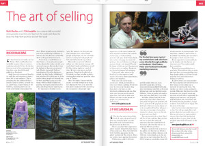 Nicki MacRae Press Coverage - Art Business Magazine - June 2012