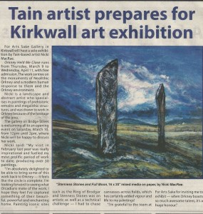 Nicki MacRae press Coverage - The Orcadian Newspaper - 2nd March 2012