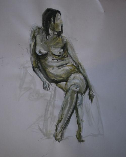Female Figure Seated - Nicki MacRae