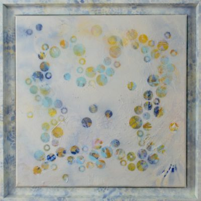 'Dots 22' abstract painting by Nicki MacRae