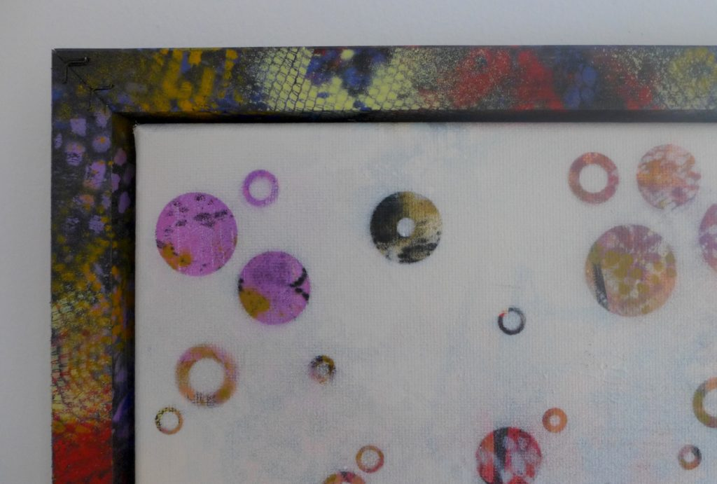 'Dots 26' abstract painting by Nicki MacRae