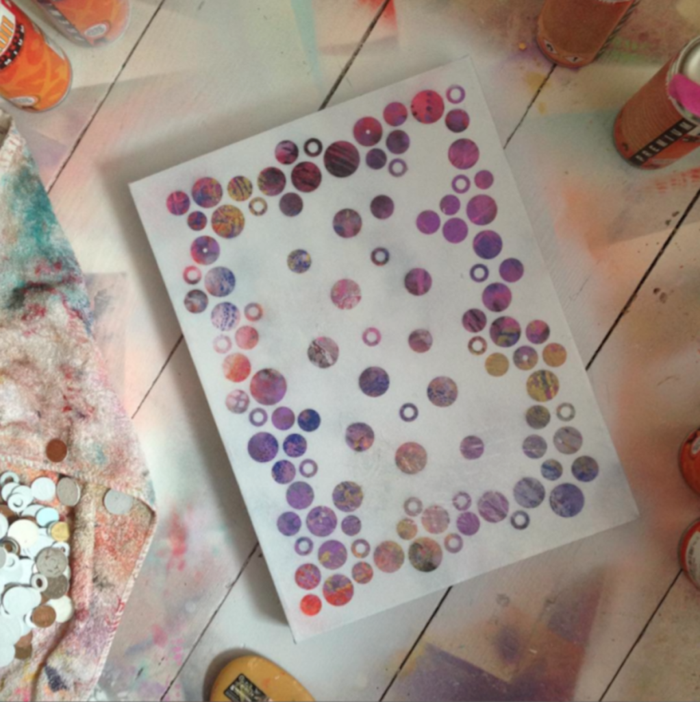 In the Studio: 'Dots 8' abstract painting by Nicki MacRae