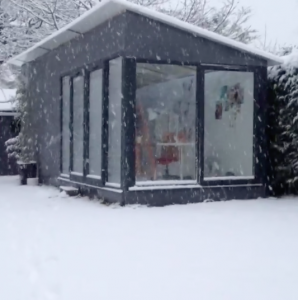 Nicki MacRae's Art Studio in the January Snow