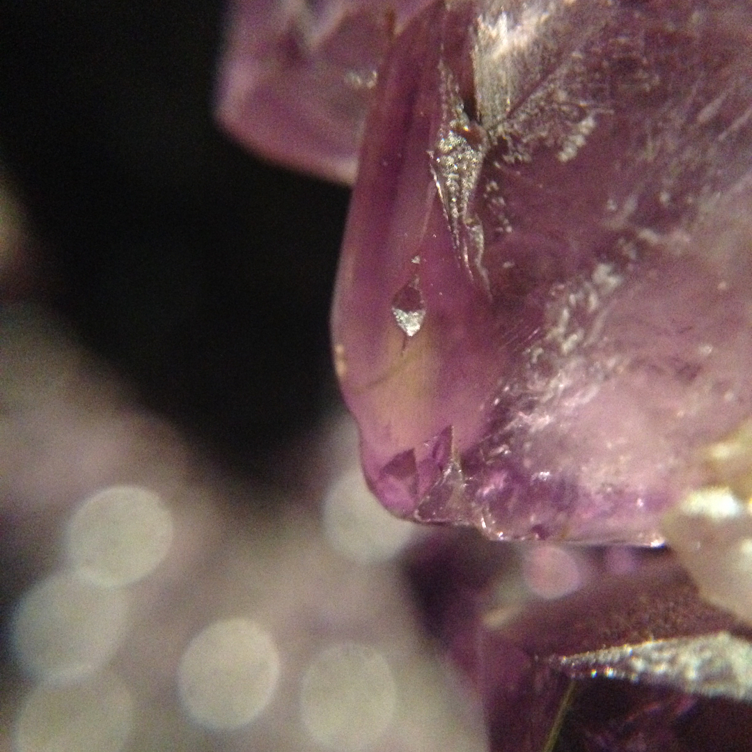 Amethyst iPhone Macro Lens Photo || Nicki MacRae Art BLOG