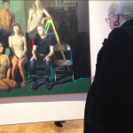 Nicki viewing the 2018 BP Portrait Award Exhibition