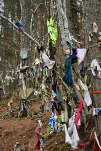 Rags and garments at the Clootie Well